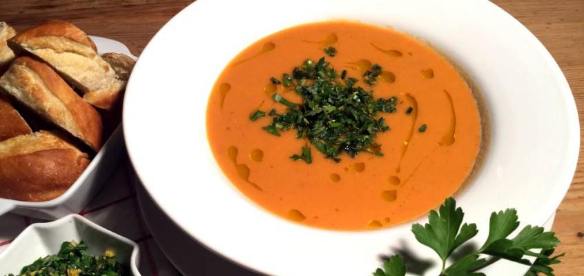 Fransk tomatsuppe med urter: Velouté de tomates