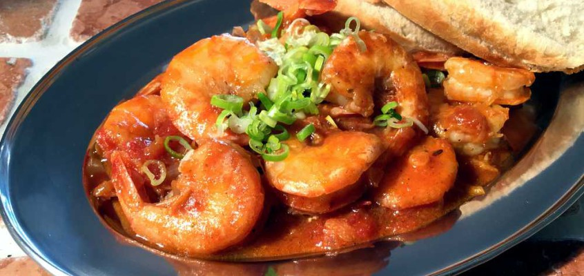 Spicy Cajun shrimps: Kongereker på Louisiana-vis