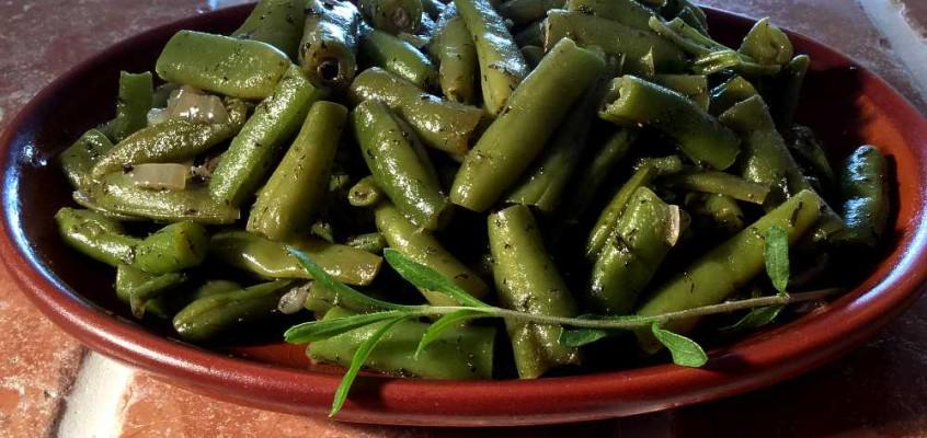 Grüne Bohnen: Tyske snittbønner med bønneurt (sar)