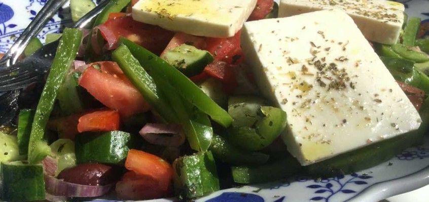Gresk salat: Den ekte, ifølge fasiten