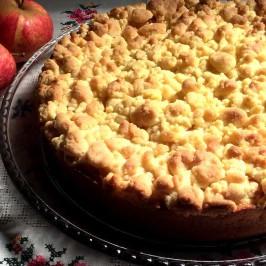 Streuselkuchen med eple: Tyskernes superkake