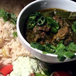 Saag gosht: Lam i het spinatcurry fra Punjab