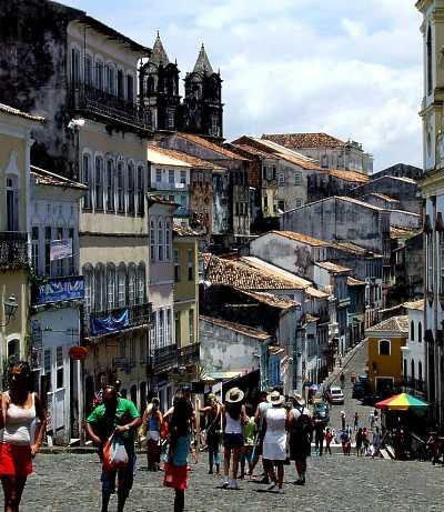 Bydelen Largo do Pelourinho i Salvador, Brasil