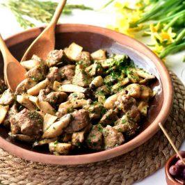 Agnello ai funghi: Sardinsk lam med sopp