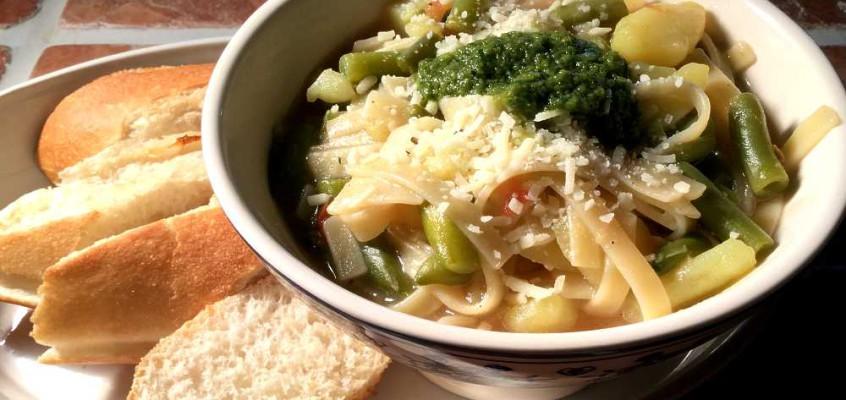 Soupe au pistou: Pestosuppe fra Provence