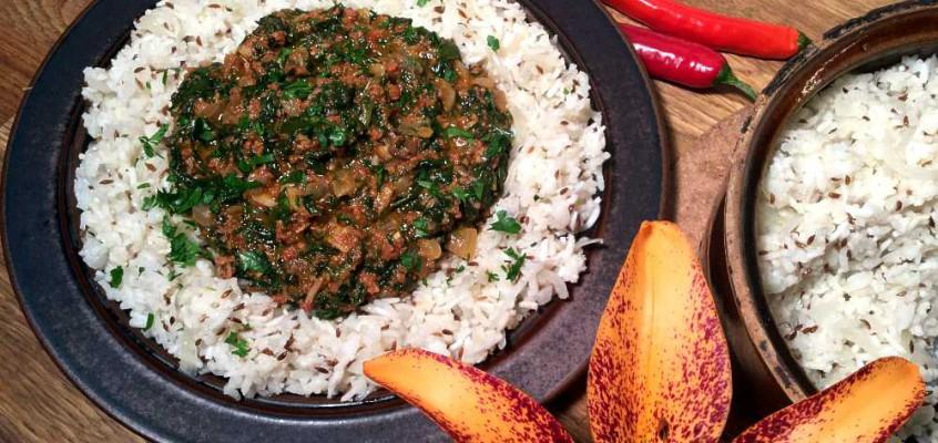 Ghanaian spinach stew: Supergryte fra Ghana