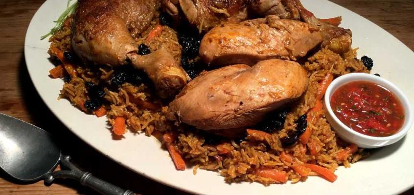 Rus al bukhari: Saudiarabisk krydderris med kylling