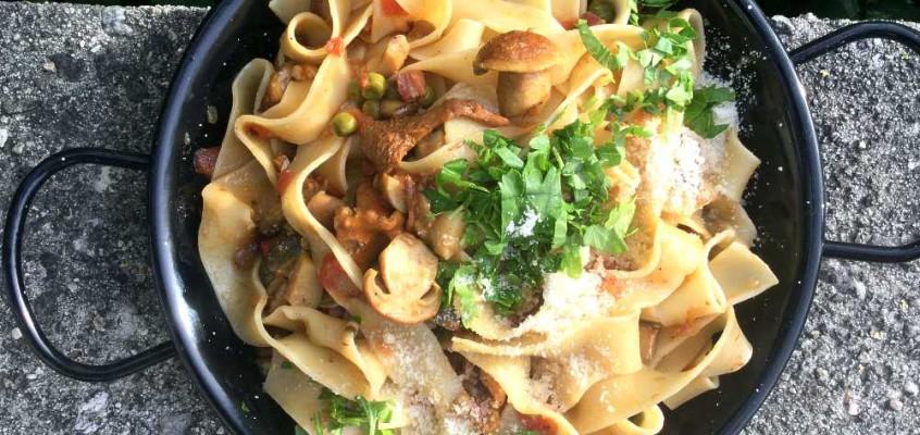 Pasta alla boscaiola: Soppasta for tømmermenn