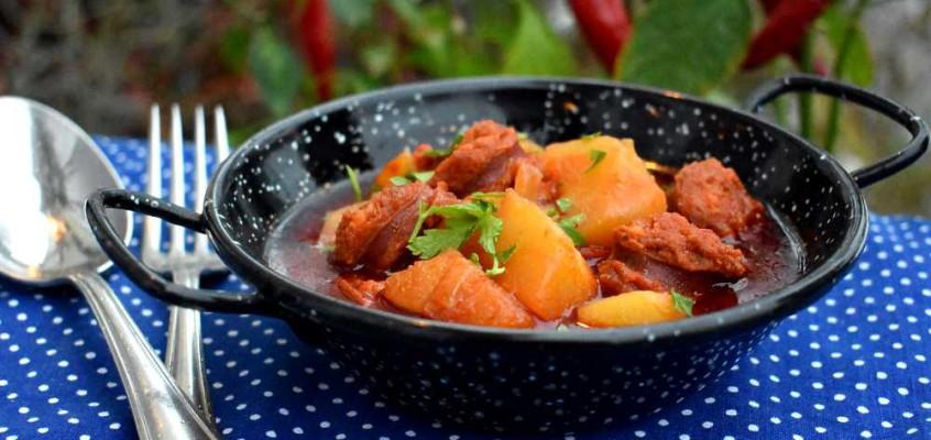 Patatas a la riojana: Chorizopoteter fra Nord-Spania