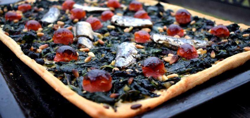 Coca d'espinacs: Spinatpizza fra Mallorca